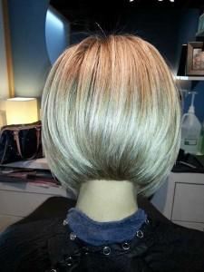 Back of A Angled Bob Haircut