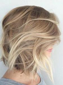 Balyage Colored Long Bob Hair