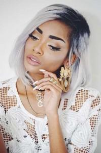 Black Girls Grey Bob Hairstyles