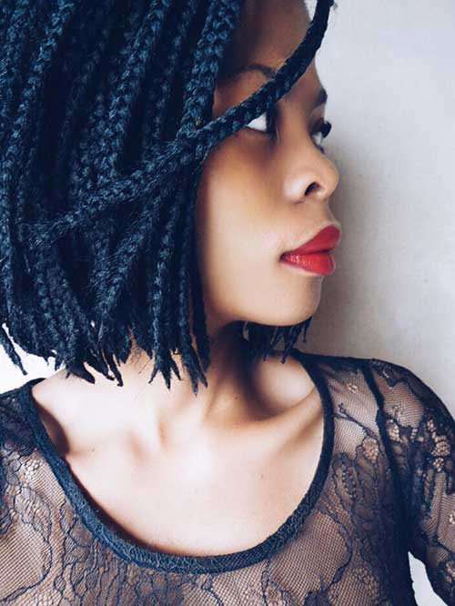Black Girls Braided Bob Hairstyles