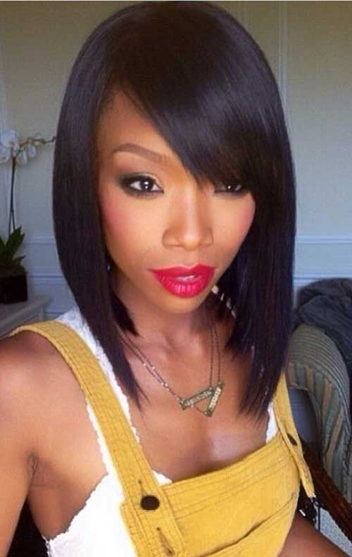Black Girls with Straight Bob Hairstyles