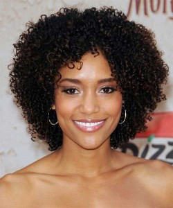 Black Women Dark Curly Bob Hairstyles