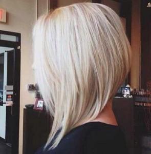 Blonde Angled Bob Hairstyles