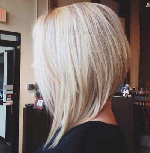 Blonde Angled Bob Hairstyles