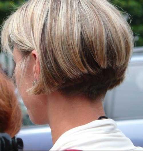 Blonde Graduated Bob Hairstyles
