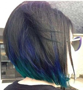 Blue Lights Bob Hair Color Ideas