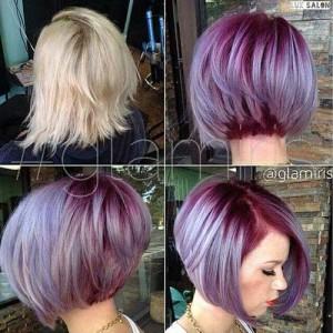 Bob Hair Purple Color Ideas