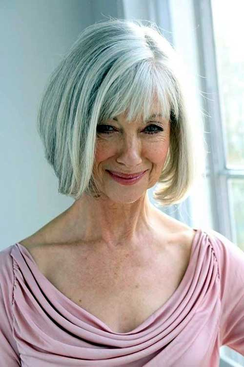 Bob Hairstyle for Older Ladies