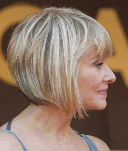 Inverted Bob Haircuts for Over 60