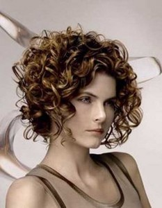 Brown Bob Hairstyles for Curly Hair 2014