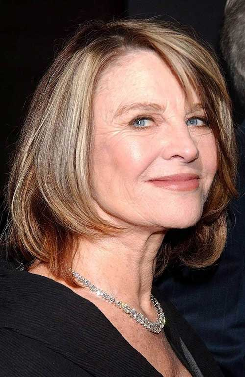 Straight Bob Hairstyles for Over 60