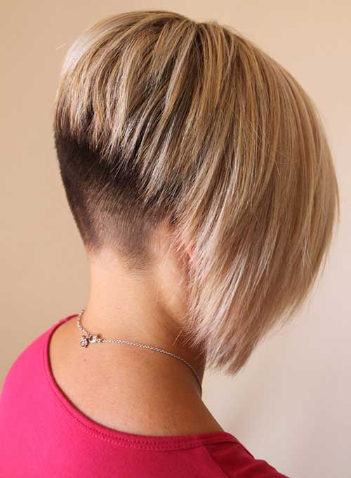 Cool Bob Shaved Nape