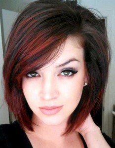 Bobs Haircuts Red Highlights Ideas