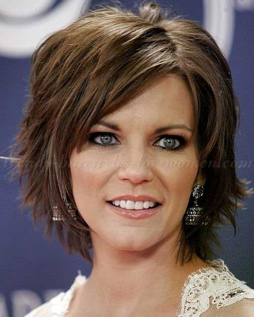 Brown Bob Hairstyles for Women Over 40