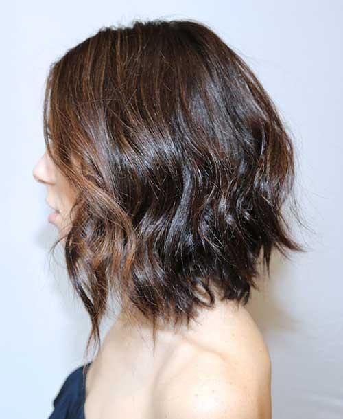 Brunette Wavy Bob Haircuts