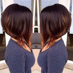 Brunette Short Graduated Bob Cuts