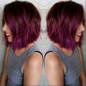 Burundy Bob Hair Color