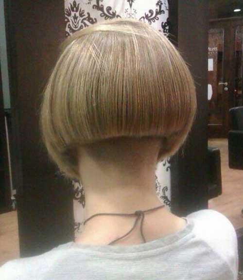 Buzzed Shaved Nape Bob Haircuts