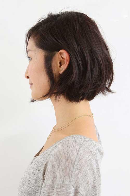 Casual Brunette Bob Hair