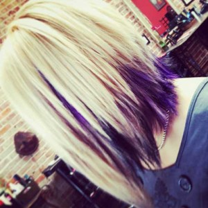 Choppy Two Colored Bob Hairstyles