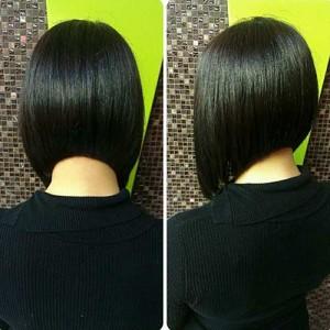 Dark Bob Hairstyles Back View for Girls