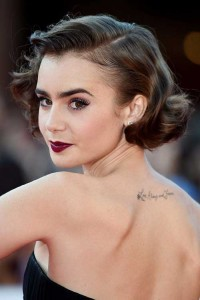 Dark Curly Bob Hairstyle for Prom