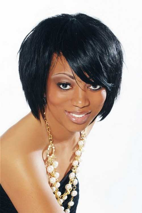Dark Layered Bob Hairstyles for Black Women