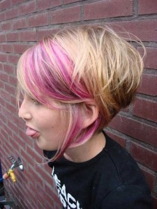 Edgy Pink Bob Haircut Ideas