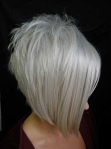 Edgy Platinum Blonde Bob Hairstyles