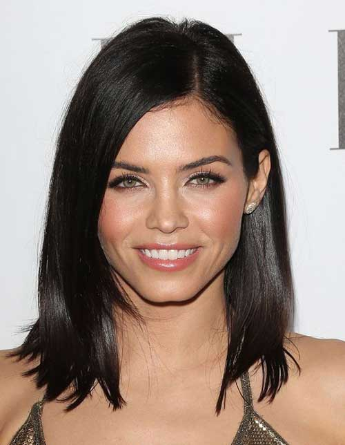 Fine Dark Hair Long Bob Cuts