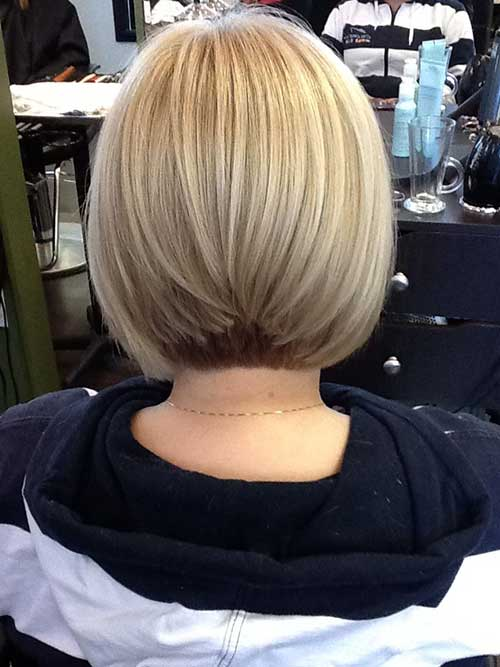 Graduated Ash Blonde Bob Hair Pictures