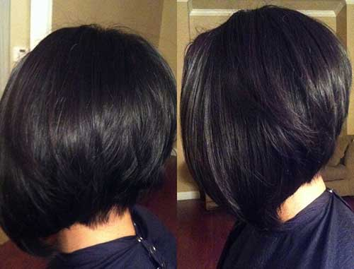 Graduated Dark Bob Hair