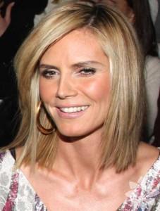 Heidi Klum Side Swept Bob Haircuts