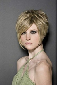 Highlighted Blonde Layered Short Bob Cuts