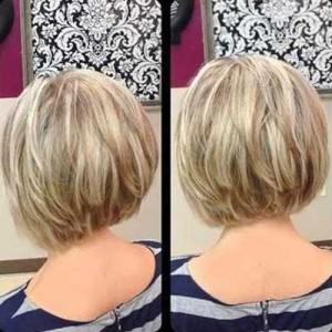 Inverted Blonde Bob for Thick Hairstyles