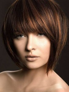 Inverted Bob for Thick Dark Brown Hairstyles