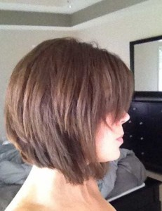 Inverted Bob for Thick Layered Haircuts Idea