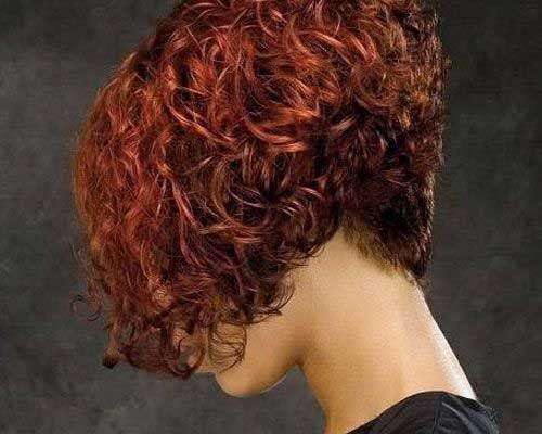 Inverted Curly Bob Haircuts 2014-2015
