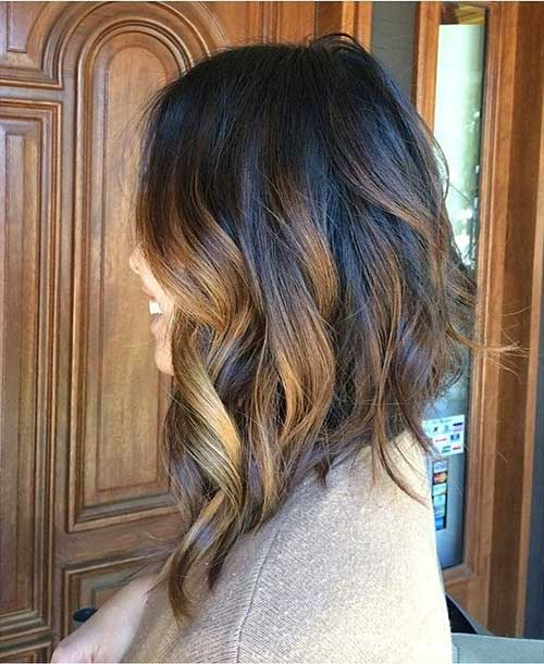 Inverted Long Wavy Bob Haircut 2015
