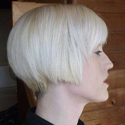 Inverted Platinum Blonde Bob for Thick Hairstyles