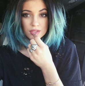 Kylie Jenner Blue Ombre