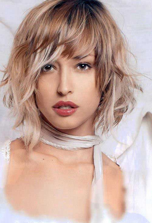 bob haircut with bangs and layers 15 medium layered bob with bangs bob hairstyles 2018 5640