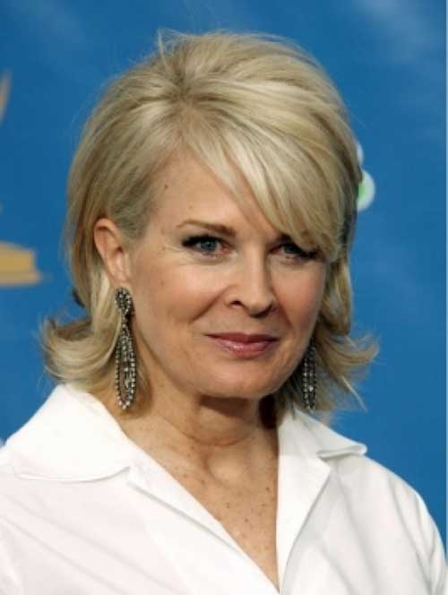 Layered Short Bob Hairstyles for Women Over 60