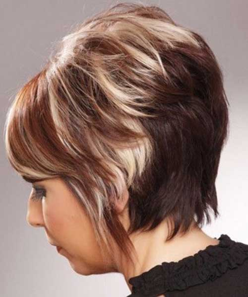 Layered Stacked Ash Blonde Bob Hair