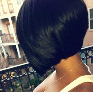 Layered Stacked Dark Bob Hairstyles