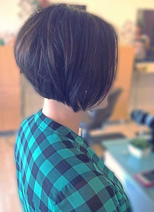 Layered Stacked Thick Bob Cut