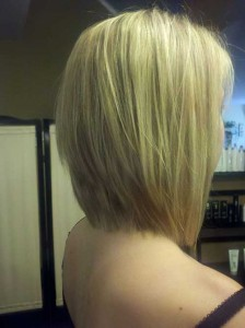 Long Bob Hair Back View Look 2015