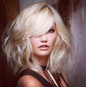 Long Thick Bob Hairstyles with Side Swept Bangs