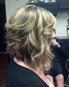 Long Inverted Blonde Bob Haircut