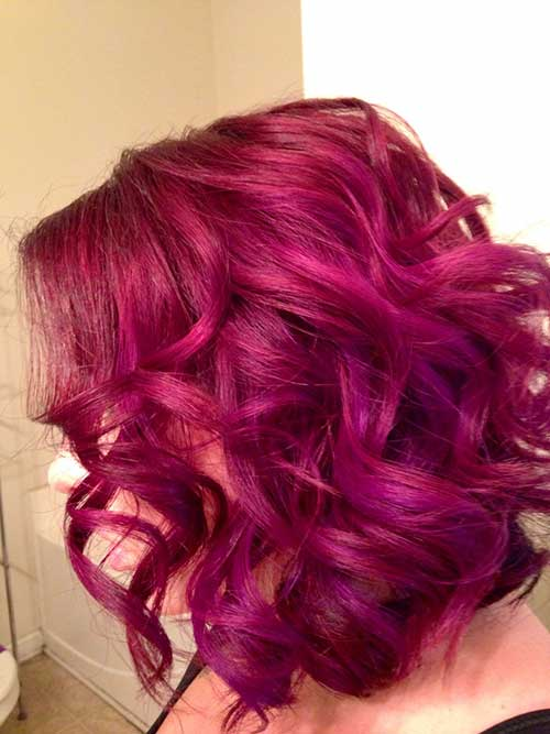 Long Inverted Bob Red Hairstyles